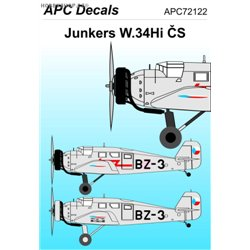 Junkers W.34 CZ - 1/72 decal