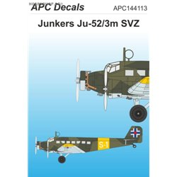 Junkers Ju 52/3m SVZ - 1/144 obtisk