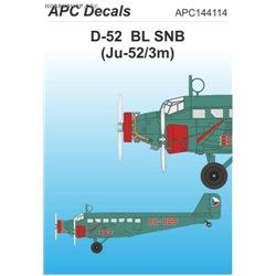 Junkers Ju 52/3m BL SNB - 1/144 obtisk