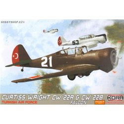 Curtiss-Wright CW-22 & CW-22B Falcon Turkish Double kit - 1/72 kit