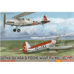 Go 145A / Fw 44J Turkish A.F. Double - 1/72 kit