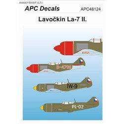 Lavočkin La-7 II. - 1/48 obtisk