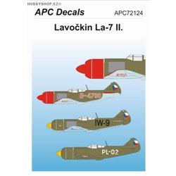 Lavočkin La-7 II. - 1/72 obtisk