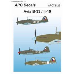 Avia B-33 / Il-10 - 1/72 obtisk