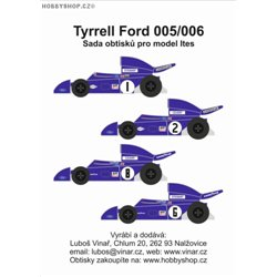 Tyrrell Ford 005/006 decals