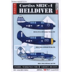 Curtiss SB2C-4 Helldiver - 1/72 decals