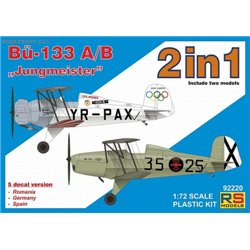 """Bücker 133 A/B """"Jungmeister"""" Double kit - 1/72 kit"""