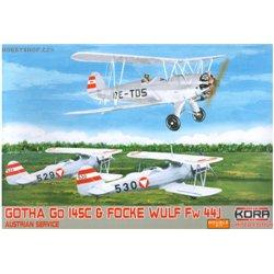 Go 145A / Fw 44J Austrian service Double - 1/72 kit
