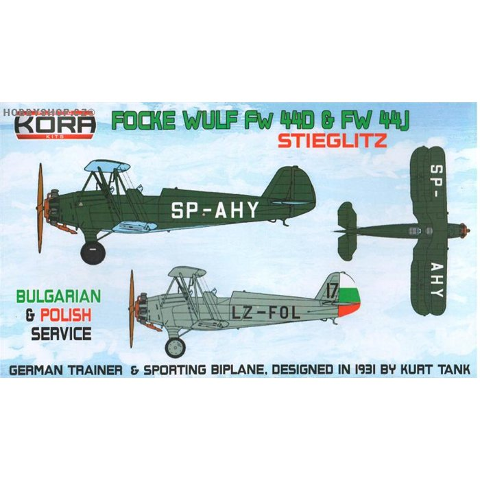 Focke-Wulf Fw 44J Bulgarian & Polish serv. - 1/72 kit