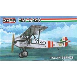 Fiat CR.20 Italian service - 1/72 kit