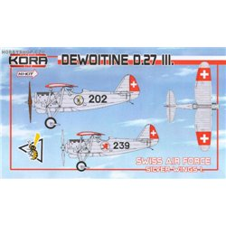 Dewoitine D.27 III Swiss A.F. part I. - 1/72 kit