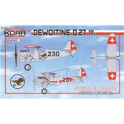 Dewoitine D.27 III Swiss A.F. part II. - 1/72 kit
