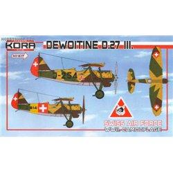 Dewoitine D.27 III WWII camouflage - 1/72 kit