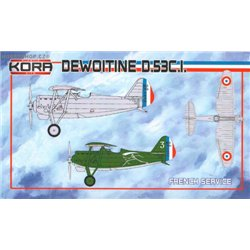 Dewoitine D.53C.1 French service - 1/72 kit