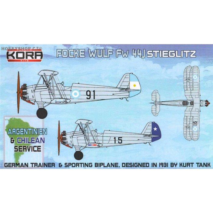 Focke-Wulf Fw 44J Argentinien & Chilean service - 1/72 kit
