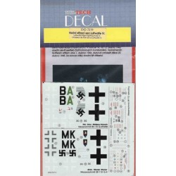 Luftwaffe night fighter aces part IV - 1/72 decal