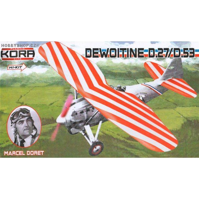 Dewoitine D.27/D-53 Marcel Doret - 1/72 kit