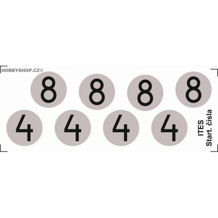 Čísla Ford GT / Lotus obtisky