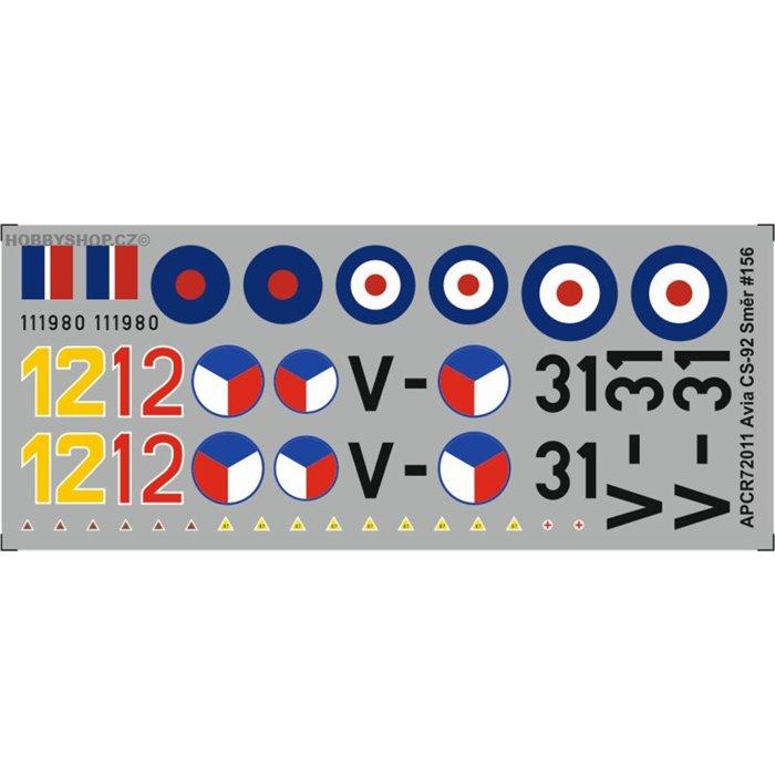 Avia CS-92 / Me 262b - 1/72 obtisk