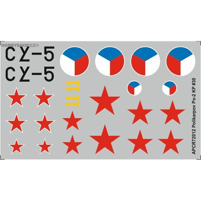 Polikarpov Po-2 - 1/72 obtisk