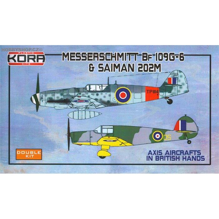 Me Bf 109G-6 & Saiman 202M in British hands - 1/72 kit