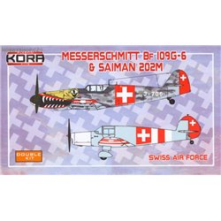 Me Bf 109G-6 & Saiman 202M Swiss Air Force - 1/72 kit