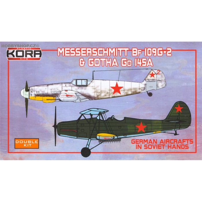 Me Bf 109G-2 & Gotha Go 145A in Soviet hands - 1/72 kit