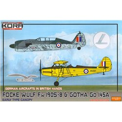 Fw 190S-8 & Gotha Go 145A in British hands - 1/72 kit