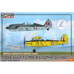 Fw 190S-8 & Gotha Go 145A in British hands - 1/72 kit