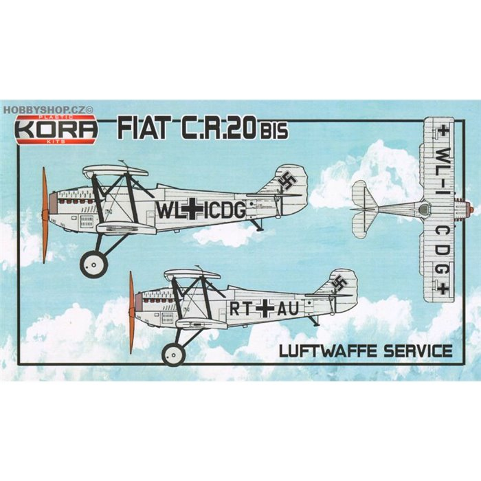 Fiat CR.20bis Luftwaffe service - 1/72 kit