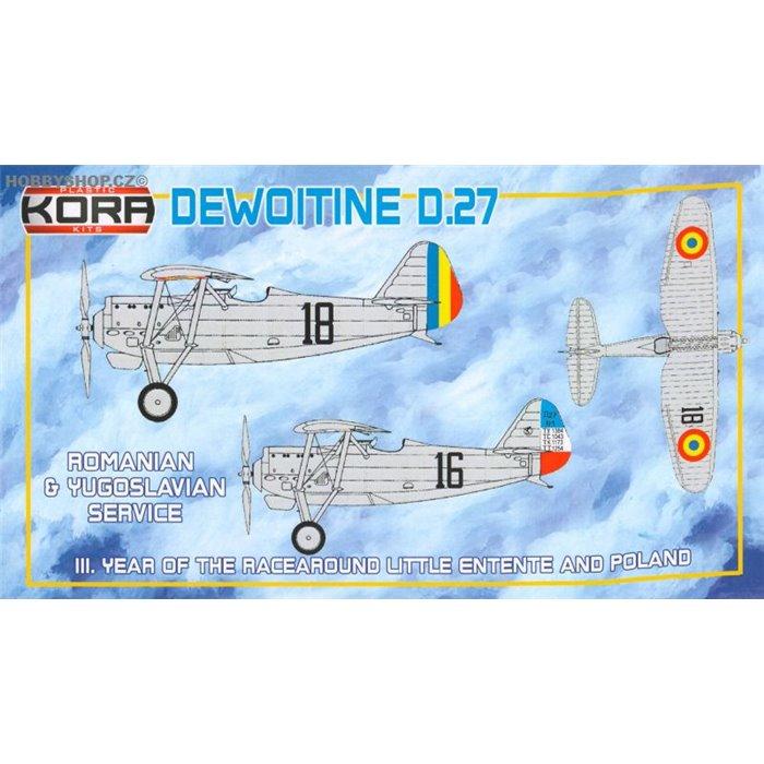 Dewoitine D.27 Romanina & Yugoslavian Service - 1/72 kit