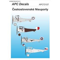 Československé Nieuporty - 1/72 obtisk