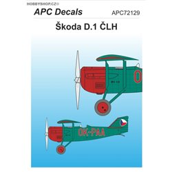 Škoda D.1 ČLH - 1/72 decal