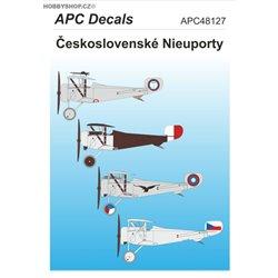 Československé Nieuporty - 1/48 obtisk