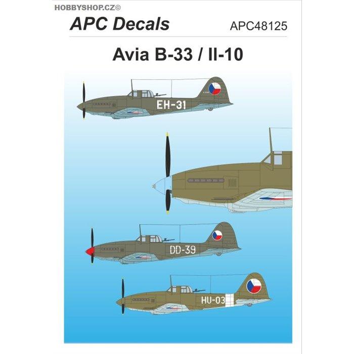Avia B-33 / Il-10 - 1/48 decal
