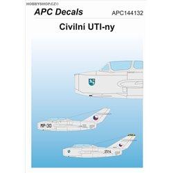 Civilní UTI-ny - 1/144 decal