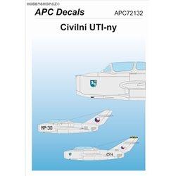Civilní UTI-ny - 1/72 decal