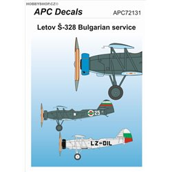 Letov Š-328 Bulgaria - 1/72 decal