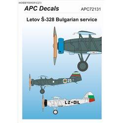 Letov Š-328 Bulharsko - 1/72 obtisk