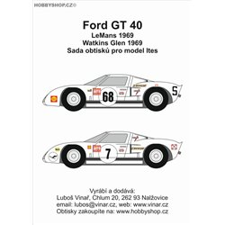 Ford GT40 part I. - decals