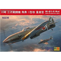 Ki-61 II Kai with bubble canopy - 1/72 kit
