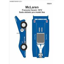 McLaren č. 22 F. Cevert obtisky