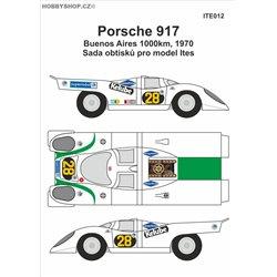 Porsche 917 č.28  Buenos Aires 1970 obtisky