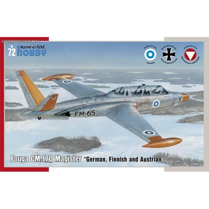 Fouga CM.170 Magister German, Finnish and Austrian - 1/72 kit