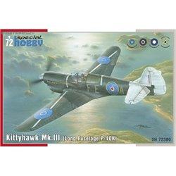 Kittyhawk Mk.III / P-40 K Long Fuselage - 1/72 kit