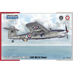 Fairey Barracuda Mk.III ASV Mk.XI Radar - 1/72 kit