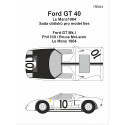 Ford GT40 LeMans 1964 decals