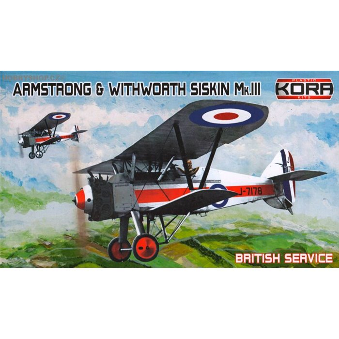 A&W Siskin Mk.III British Service - 1/72 kit