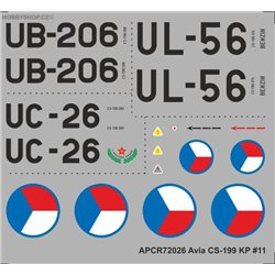 Avia CS-199 - 1/72  decal