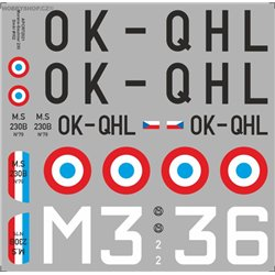 Morane-Saulnier MS 230 - 1/72 decal